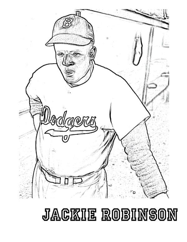 Jackie Robinson Coloring Page To Print