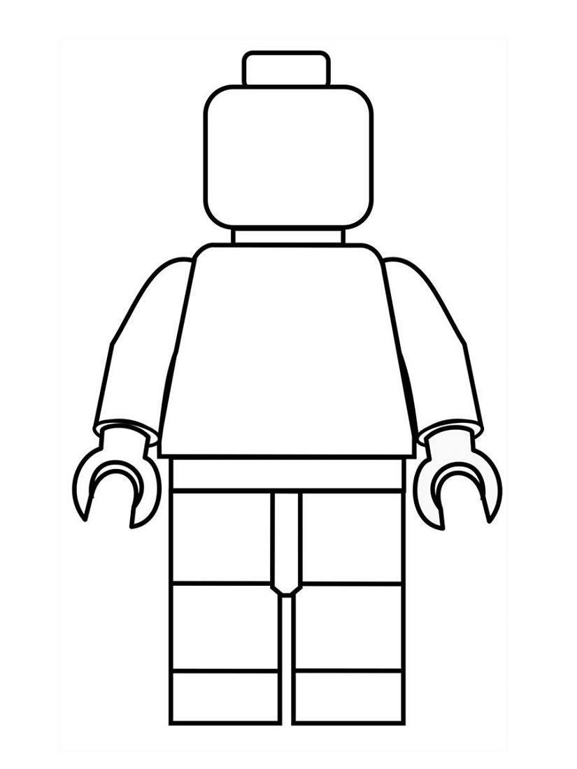 Kids Drawing Templates Lego