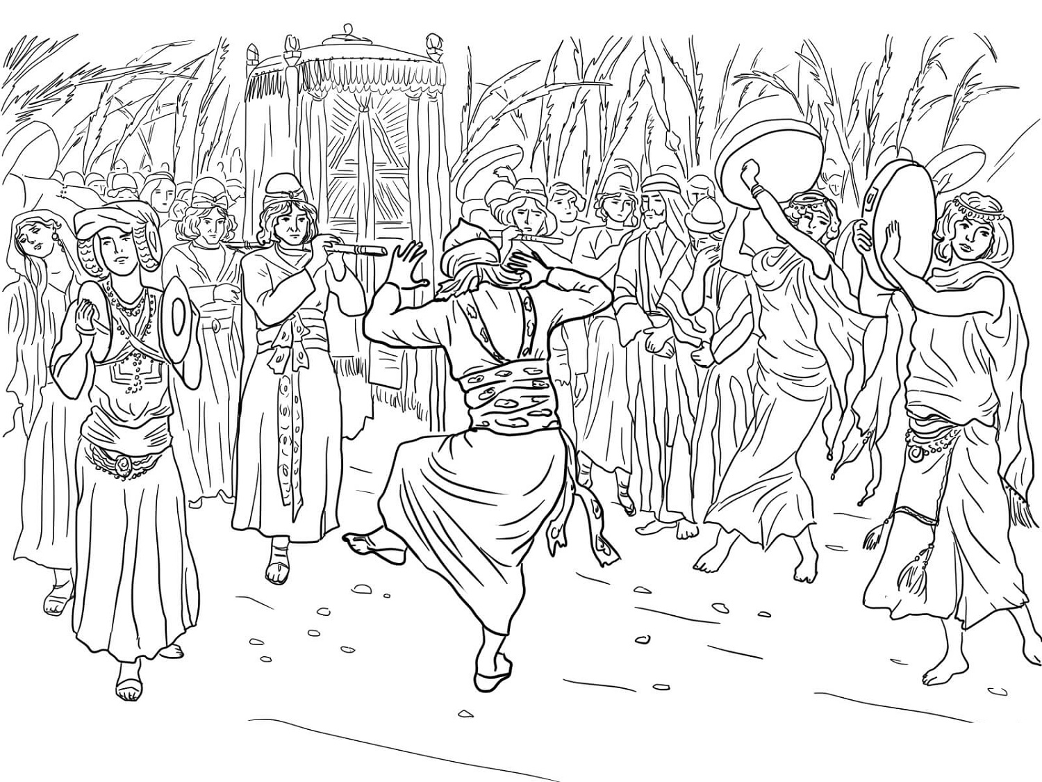 King David Coloring Pages Free