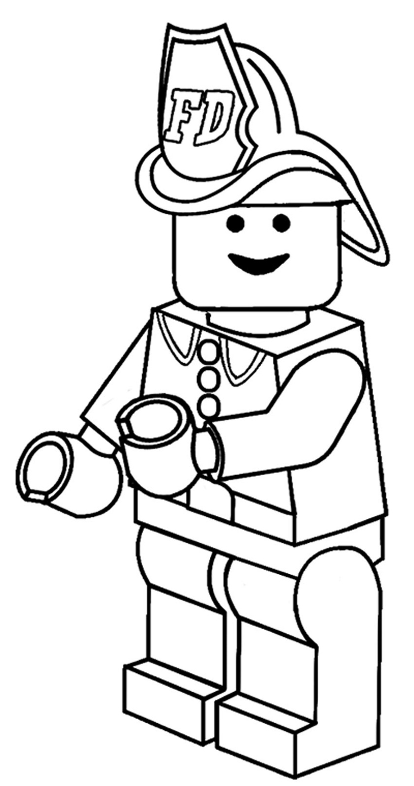 Lego Coloring Pages Fireman