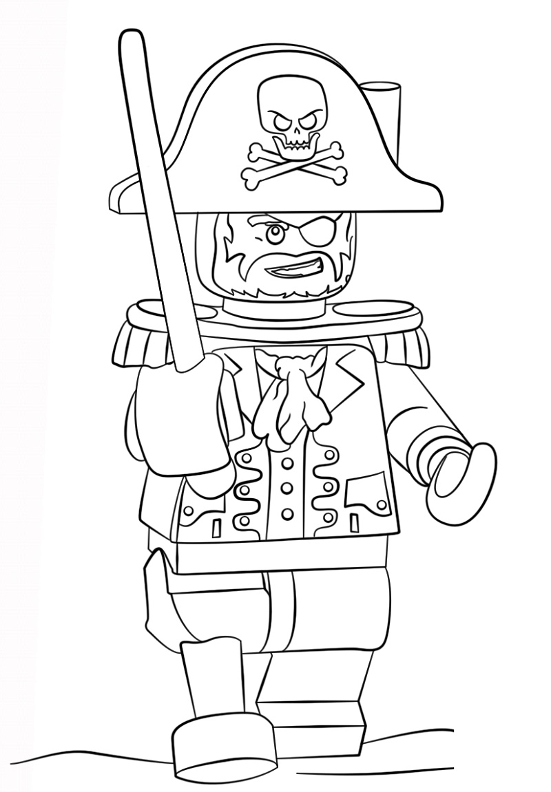 Lego Coloring Pages Pirates