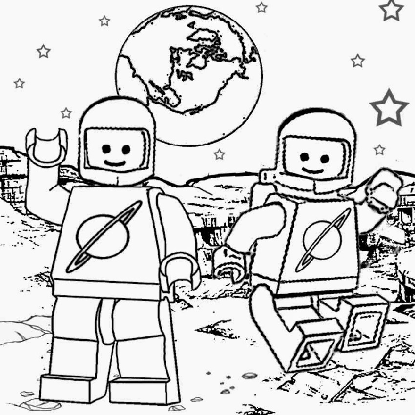 Lego Coloring Pages Space