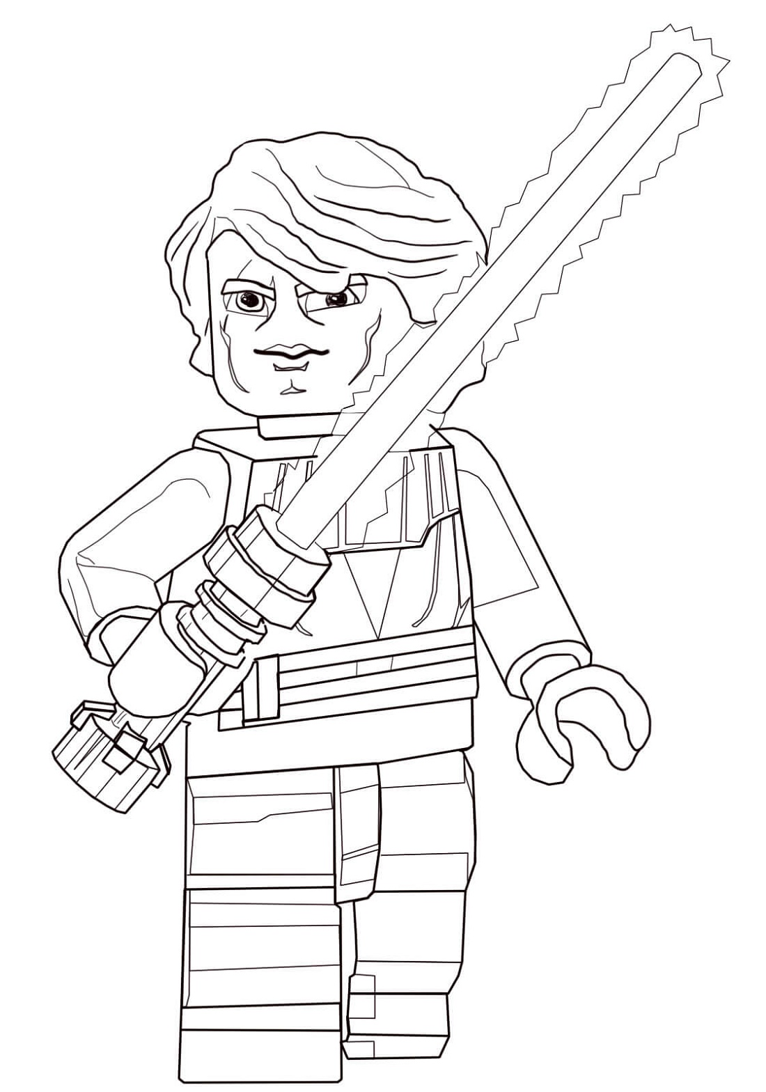 Lego Star Wars Coloring Pages Anakin Skywalker