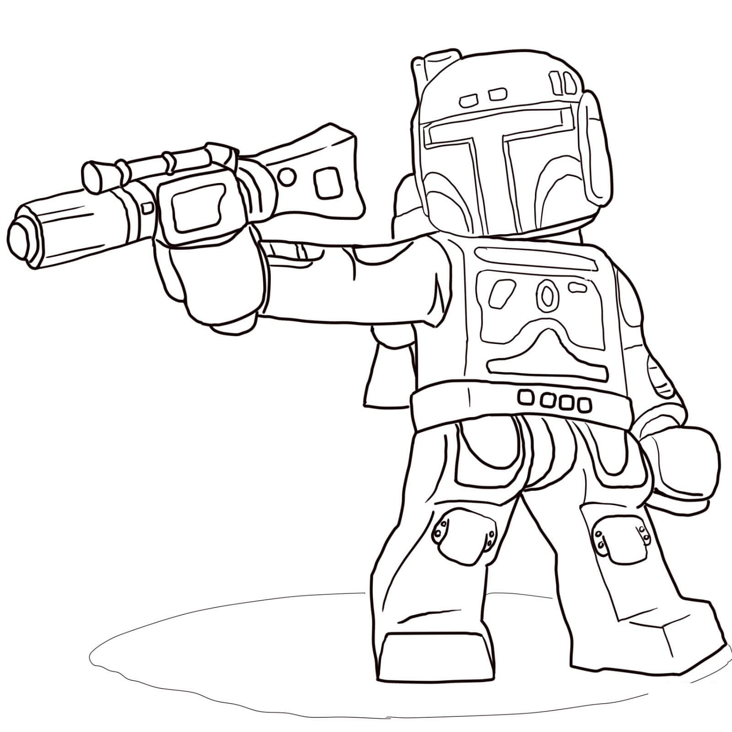 Lego Star Wars Coloring Pages Boba Fett