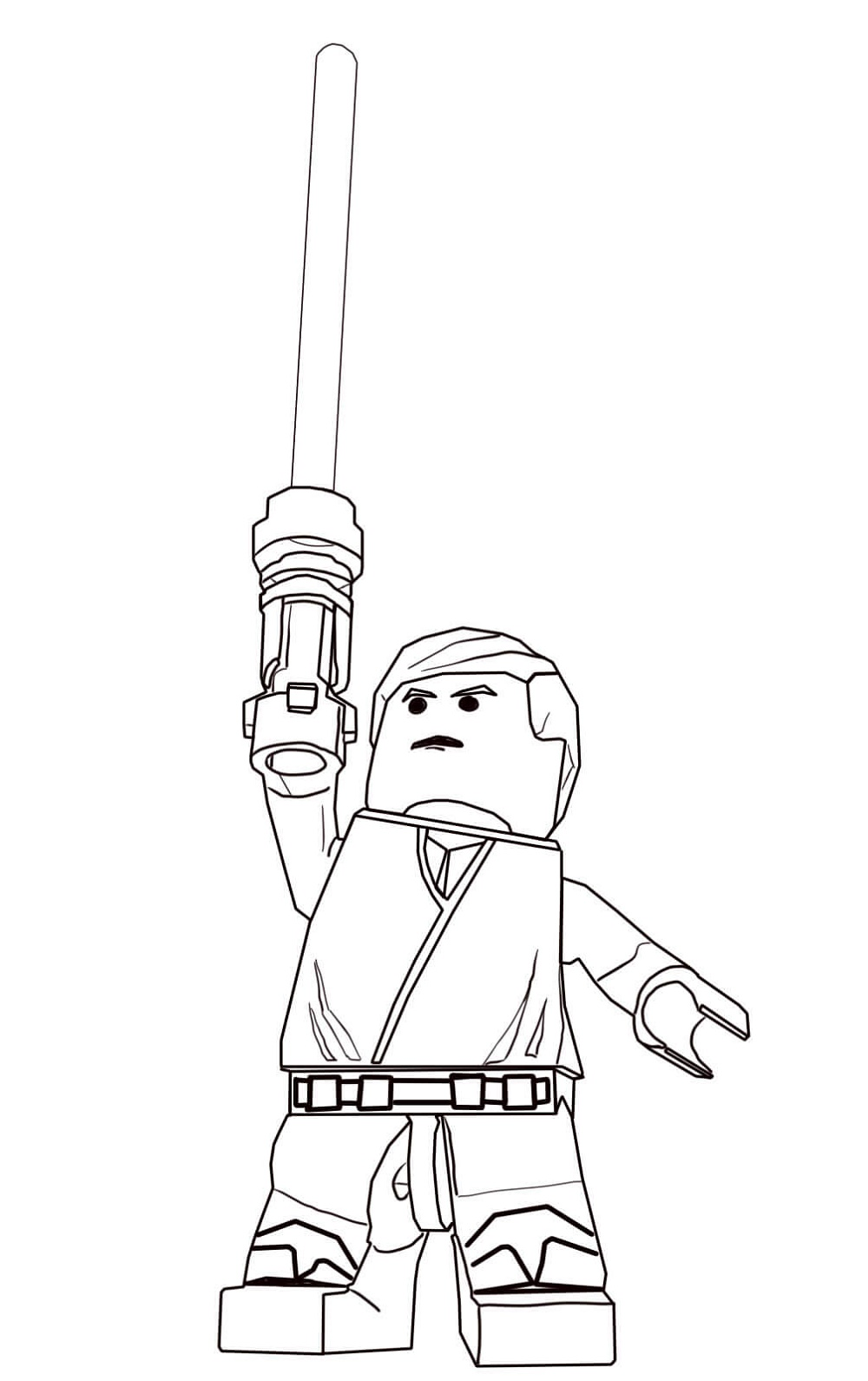 Lego Star Wars Coloring Pages Luke Skywalker