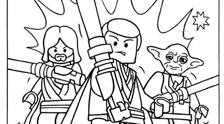 Lego Star Wars Coloring Pages Printable