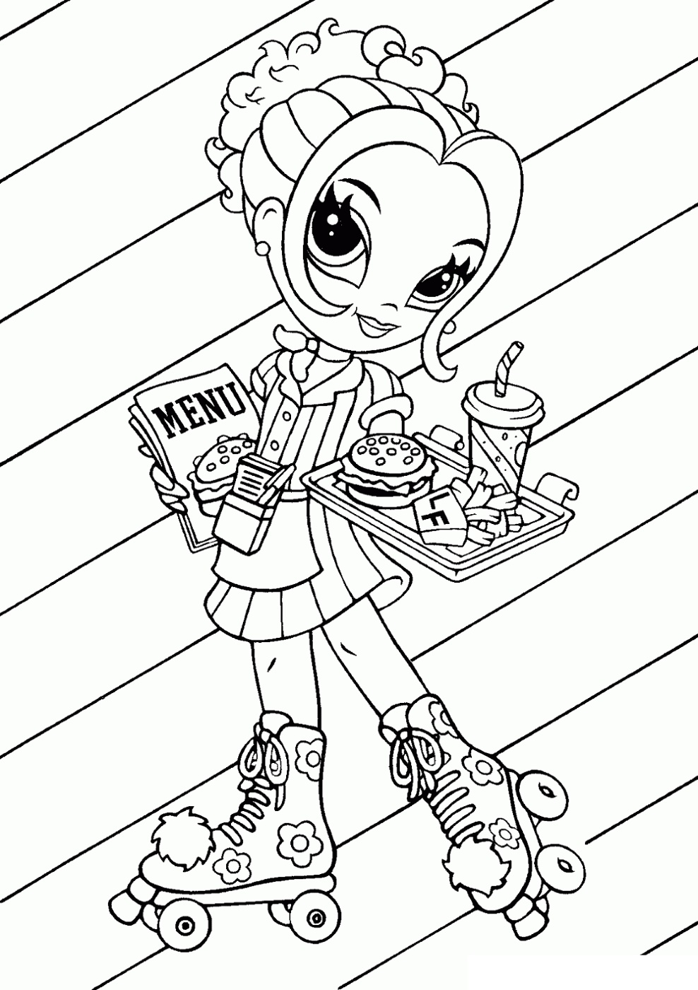 Lisa Frank Coloring Book Glamour Girl