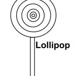 Lollipop Coloring Page Easy