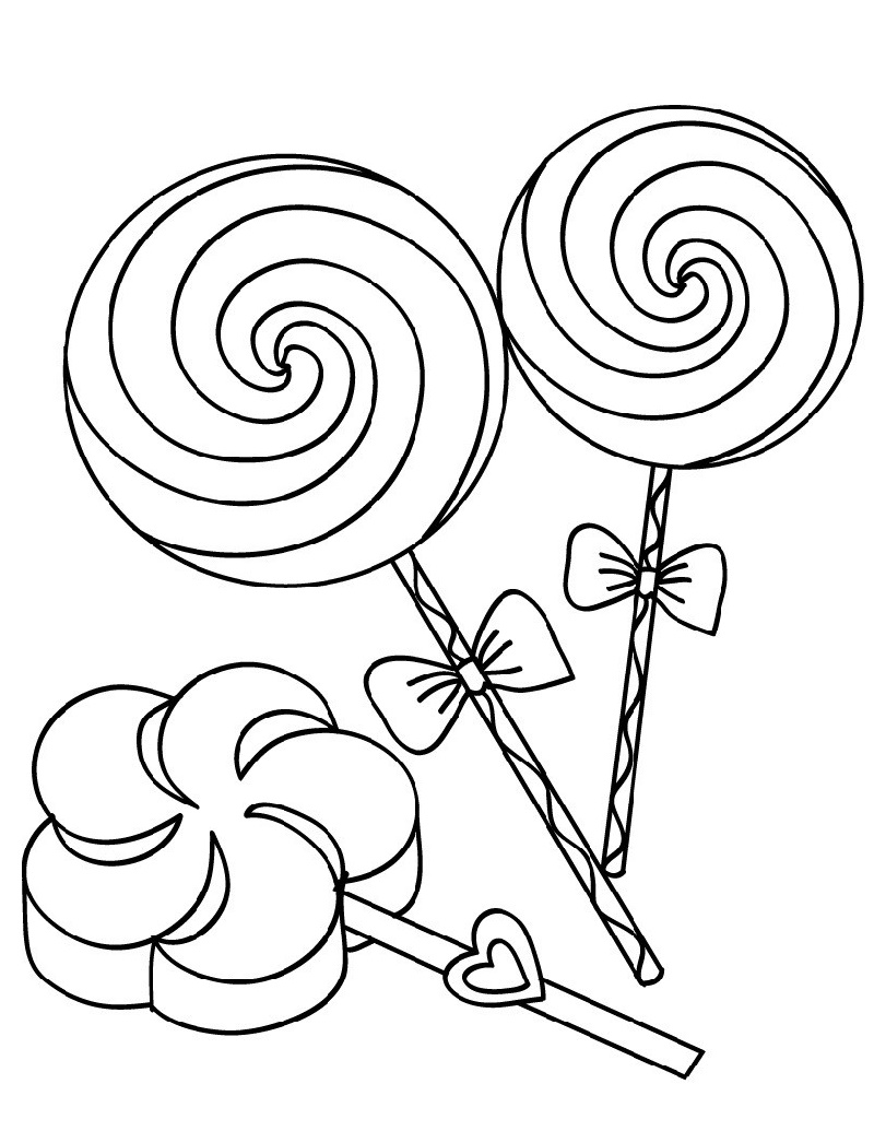Lollipop Coloring Page Free