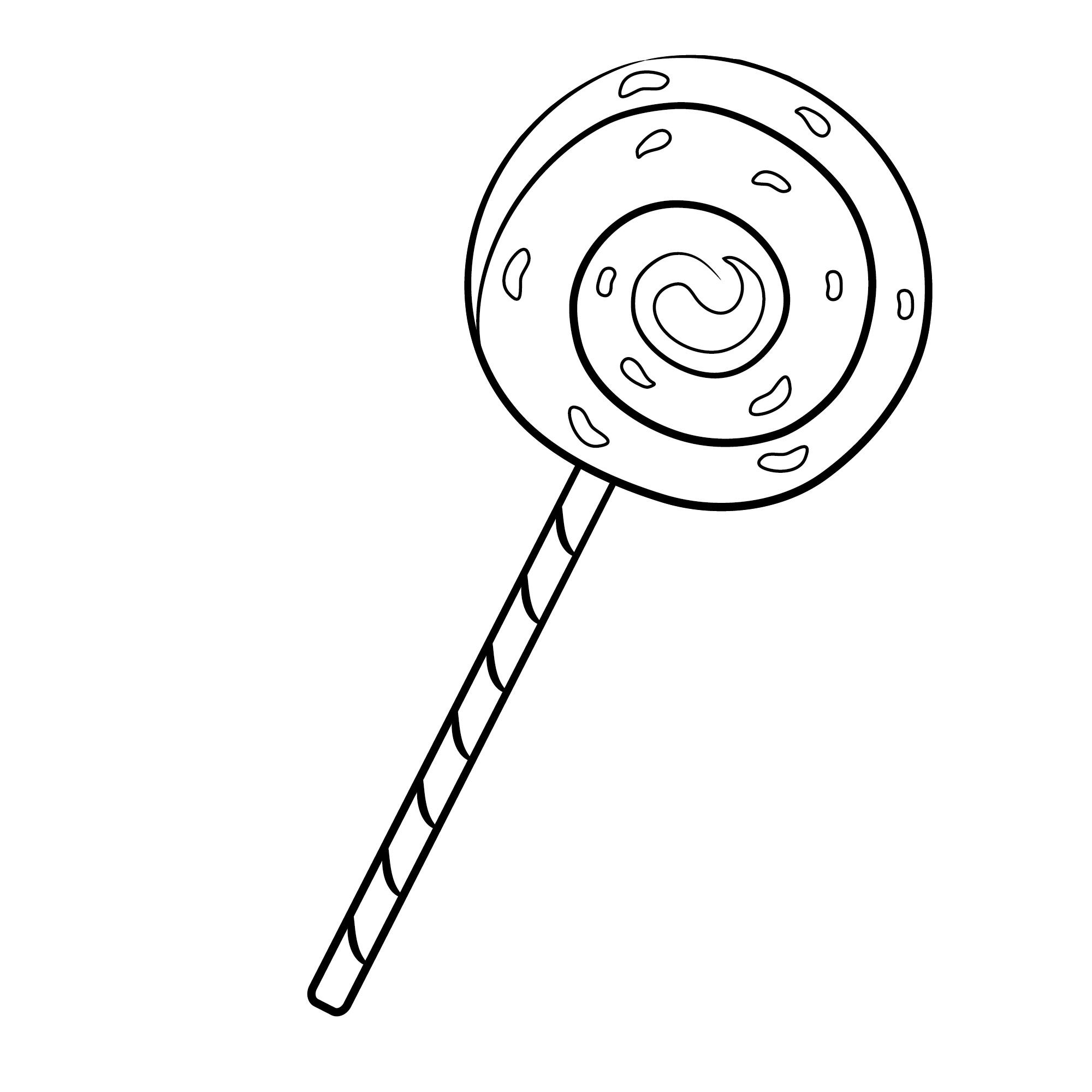 Lollipop Coloring Page | K5 Worksheets