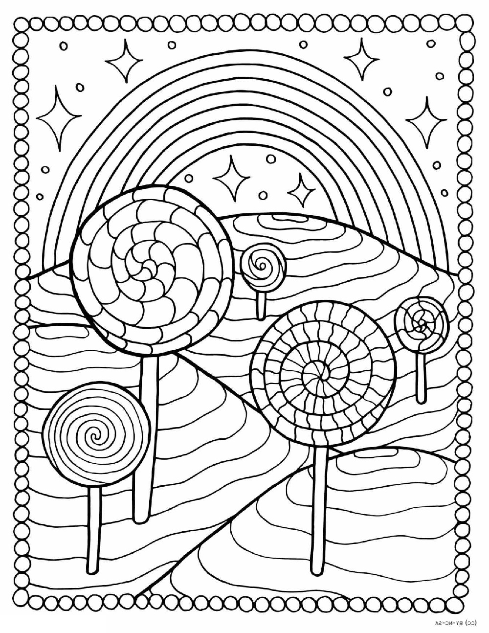 Lollipop Coloring Page To Print