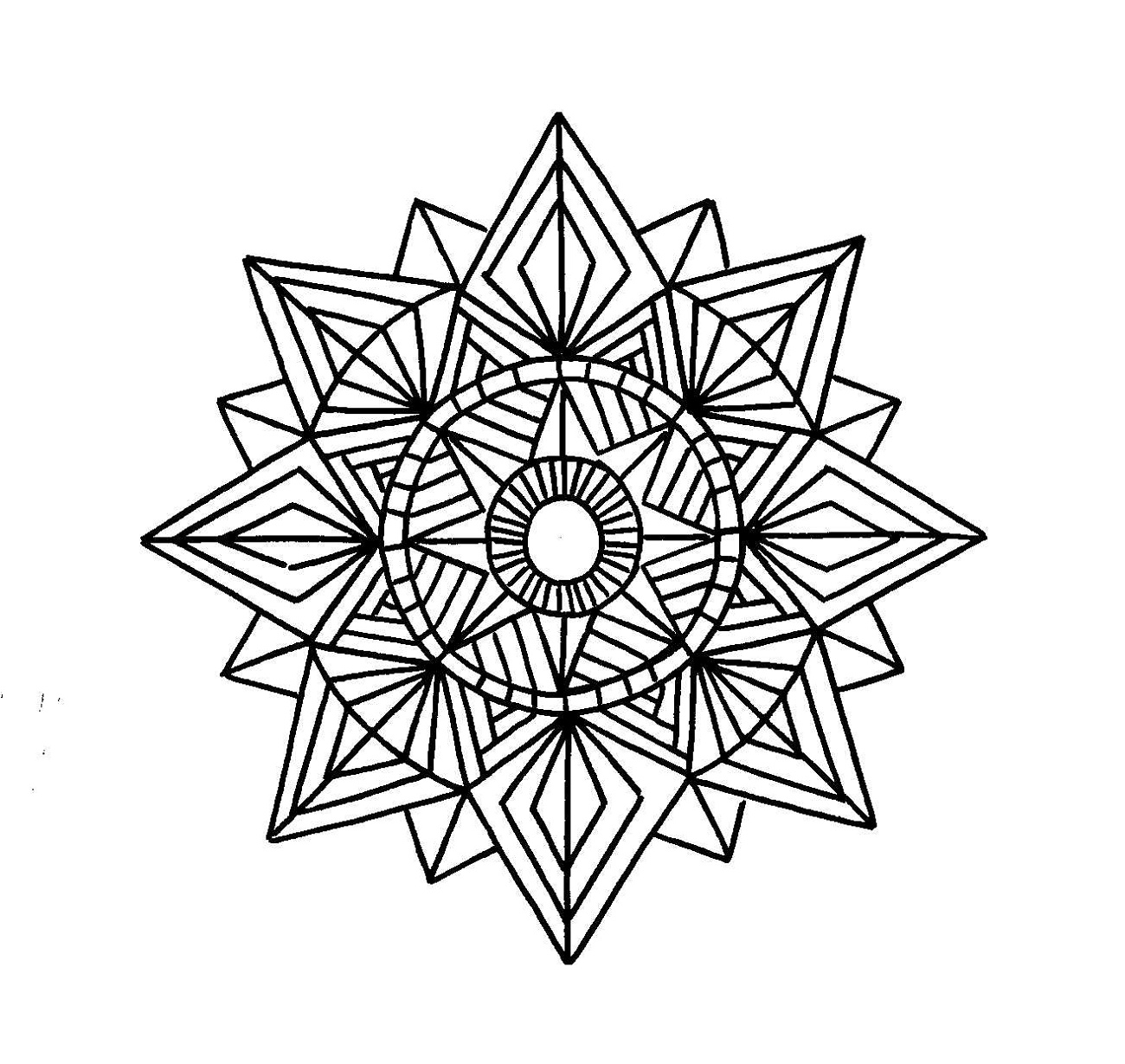 Mandala Coloring Book Geometric