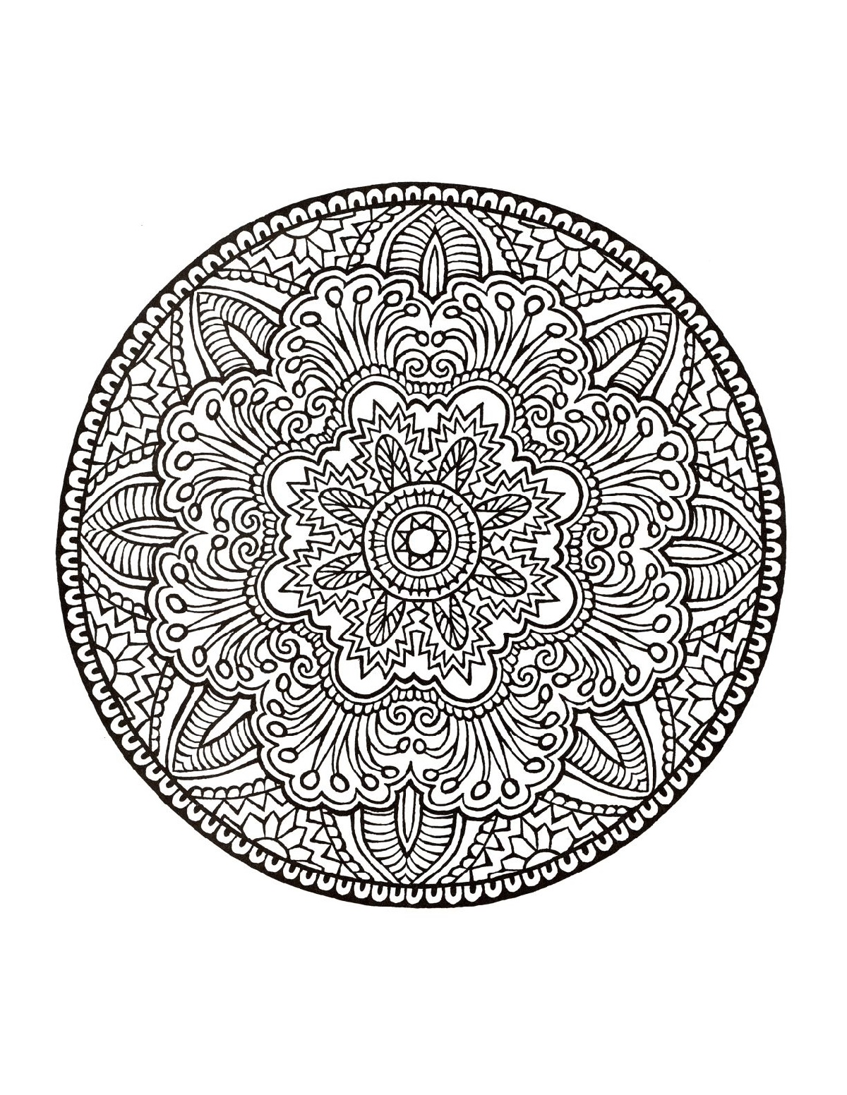 Mandala Coloring Book Mystical