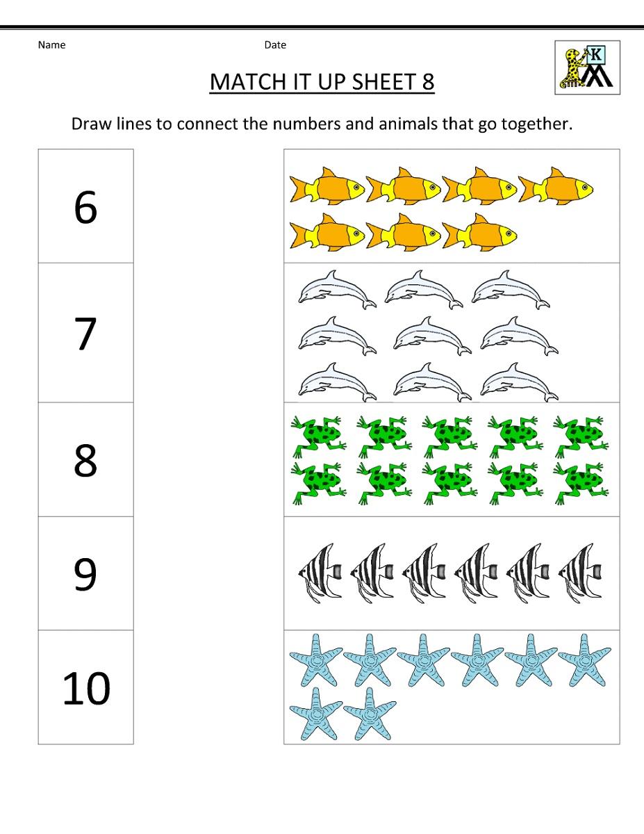 Mathematics Worksheets For Kindergarten