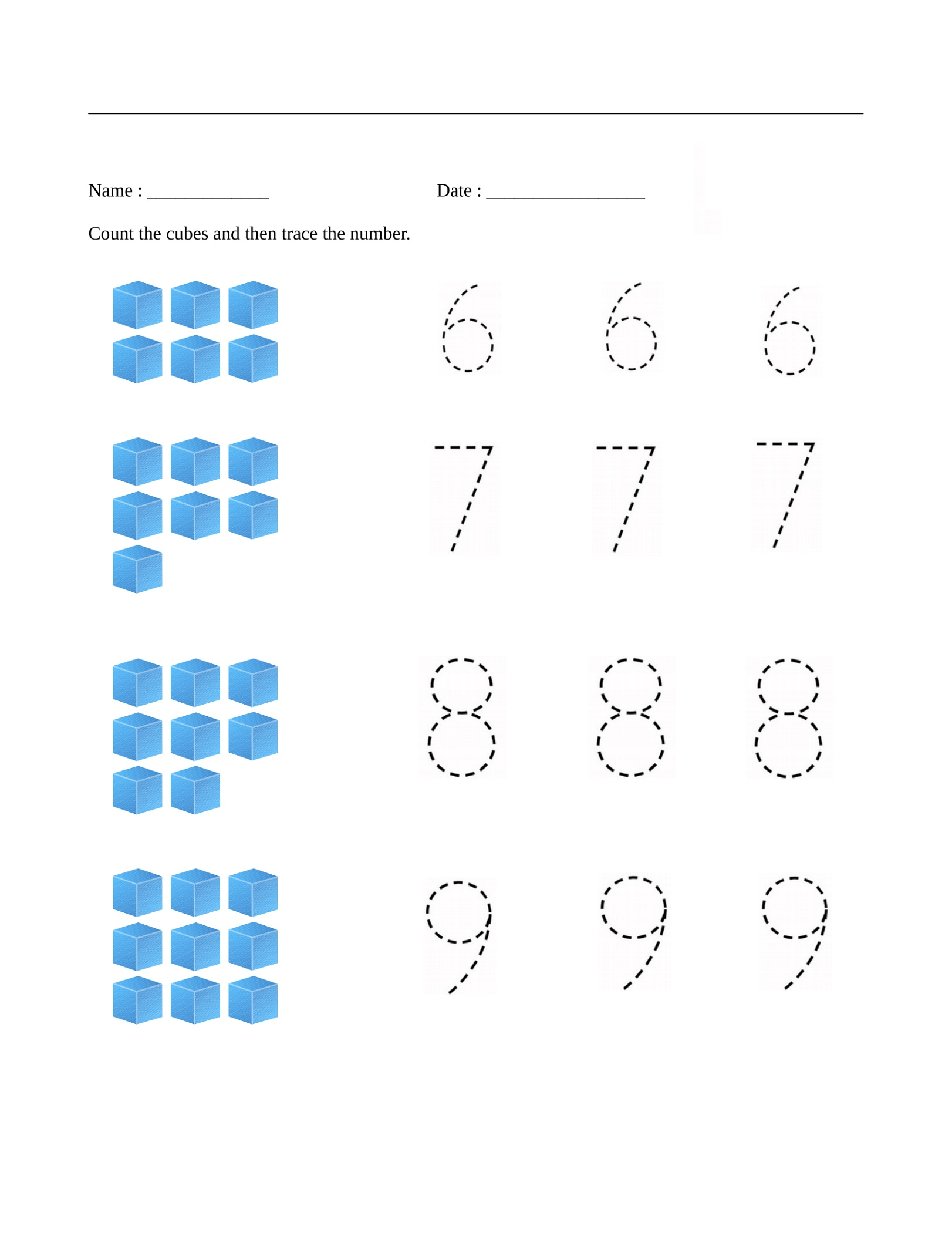 Mathematics Worksheets Number