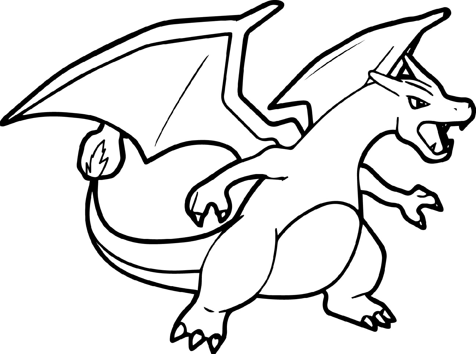 Mega Charizard Coloring Page To Print