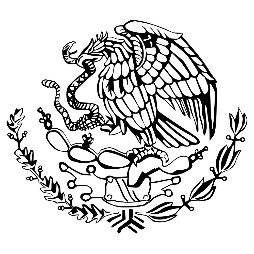 Mexican Flag Coloring Page Eagle