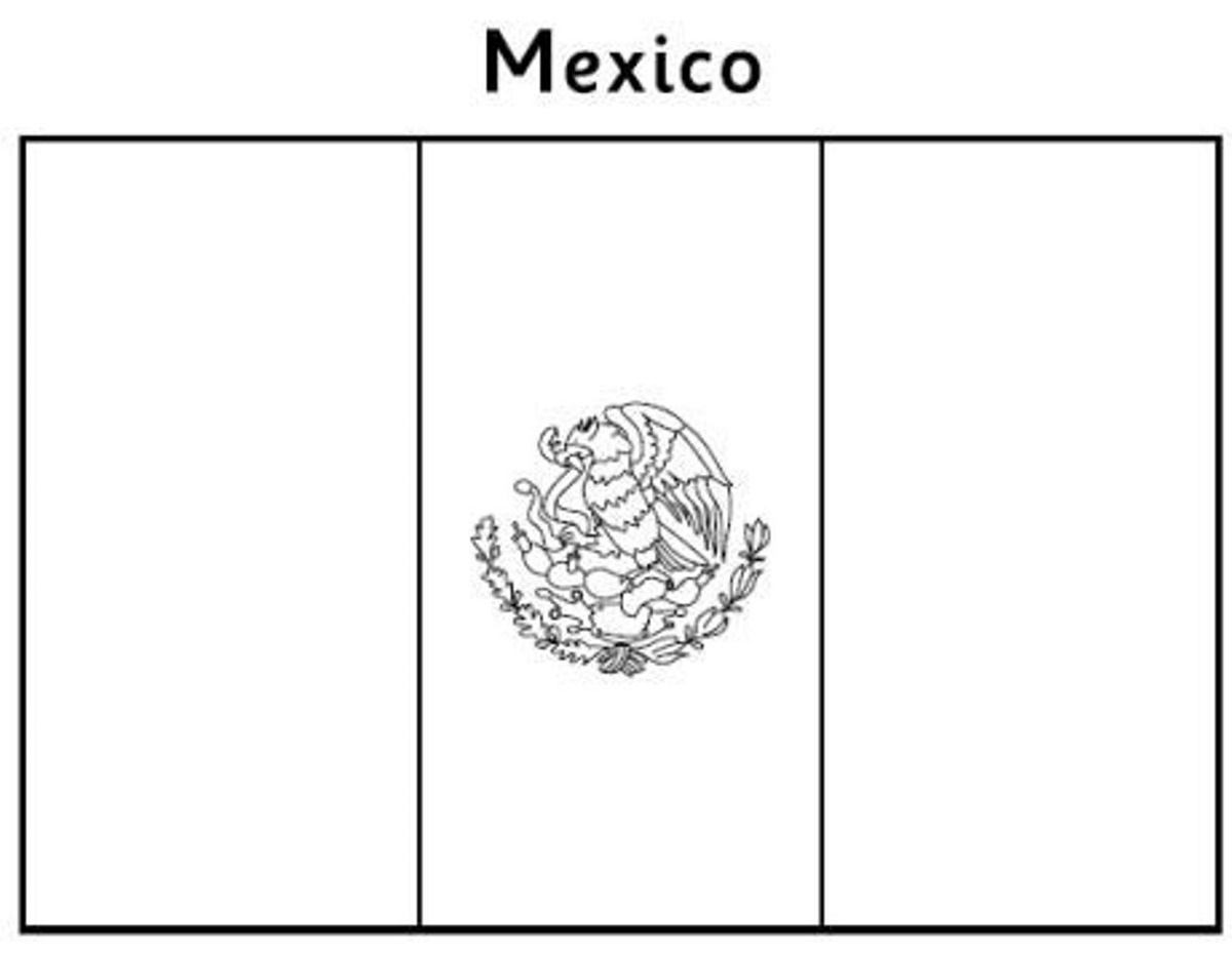Mexican Flag Coloring Page To Print