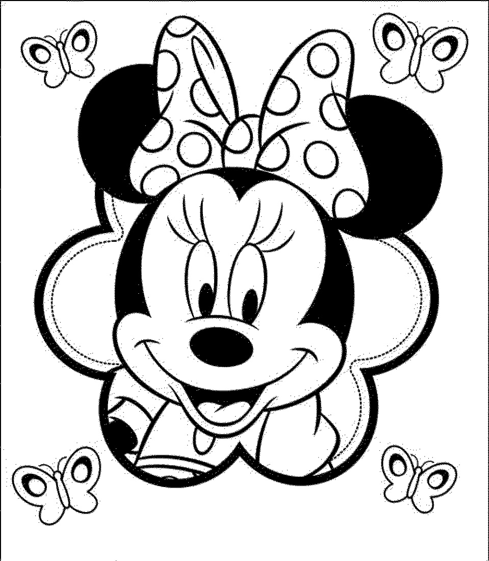 Minnie Mouse Printable Coloring Pages Disney