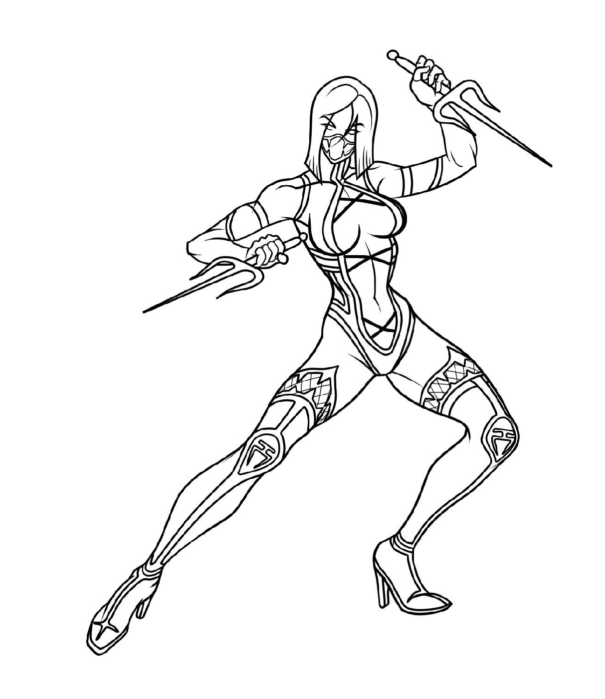 Mortal Kombat Coloring Pages Kitana