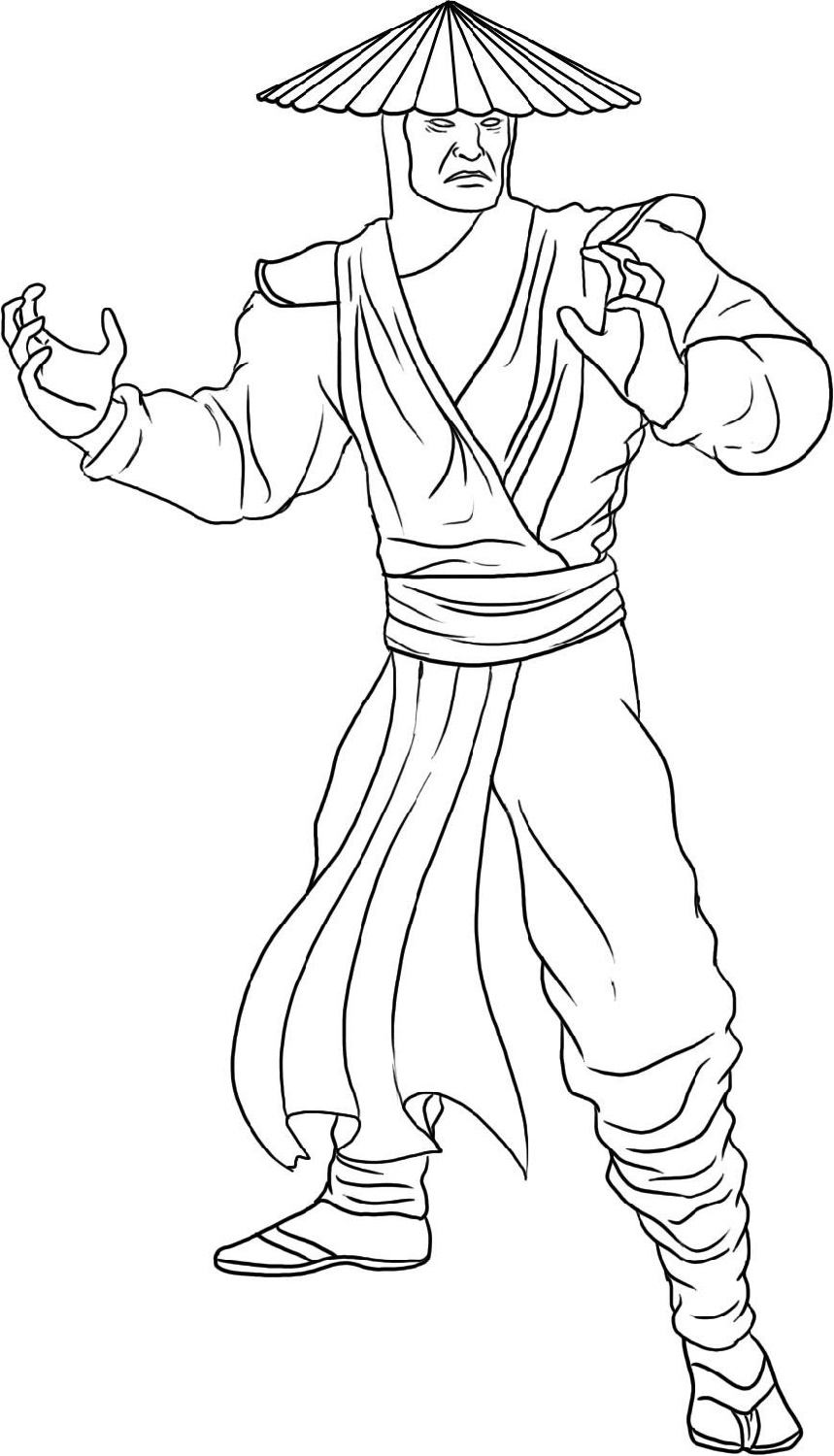 Mortal Kombat Coloring Pages Raiden