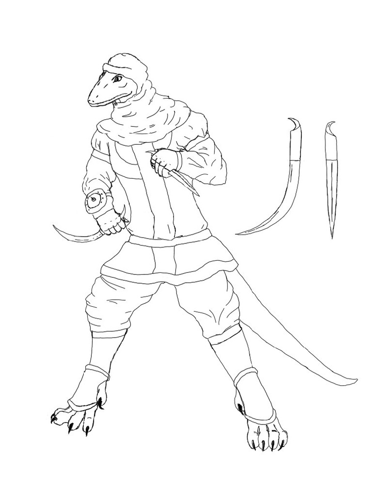 Mortal Kombat Coloring Pages Reptile