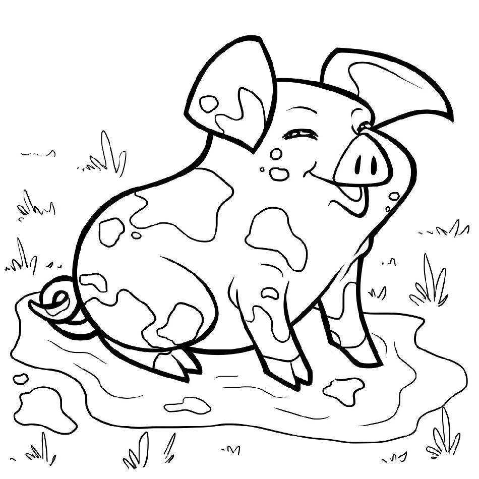 Muddy Pig Coloring Pages