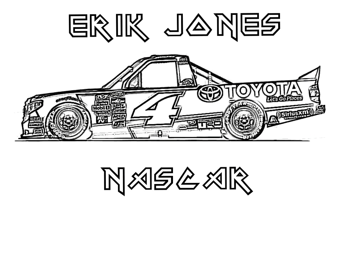 Nascar Coloring Pages Eric Jones
