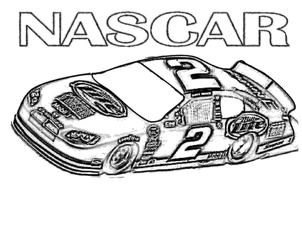 Nascar Coloring Pages For Boys