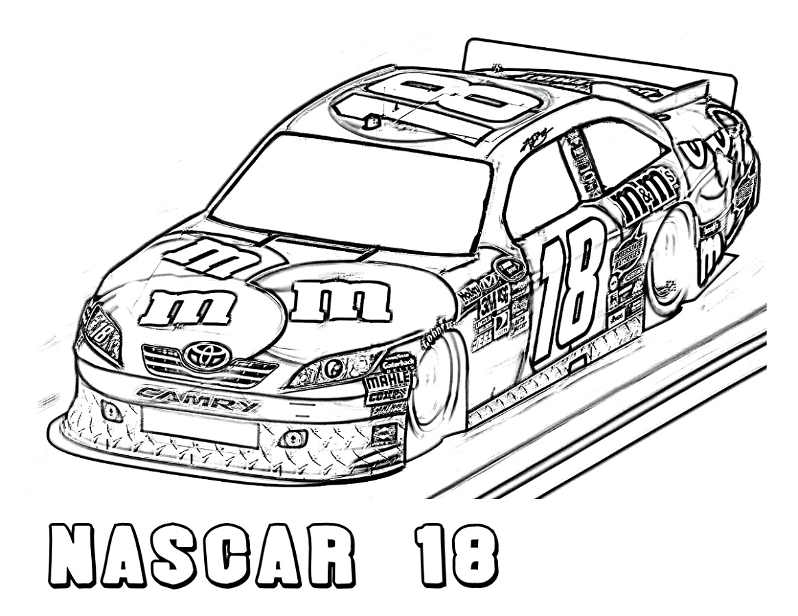 Nascar Coloring Pages Race Car