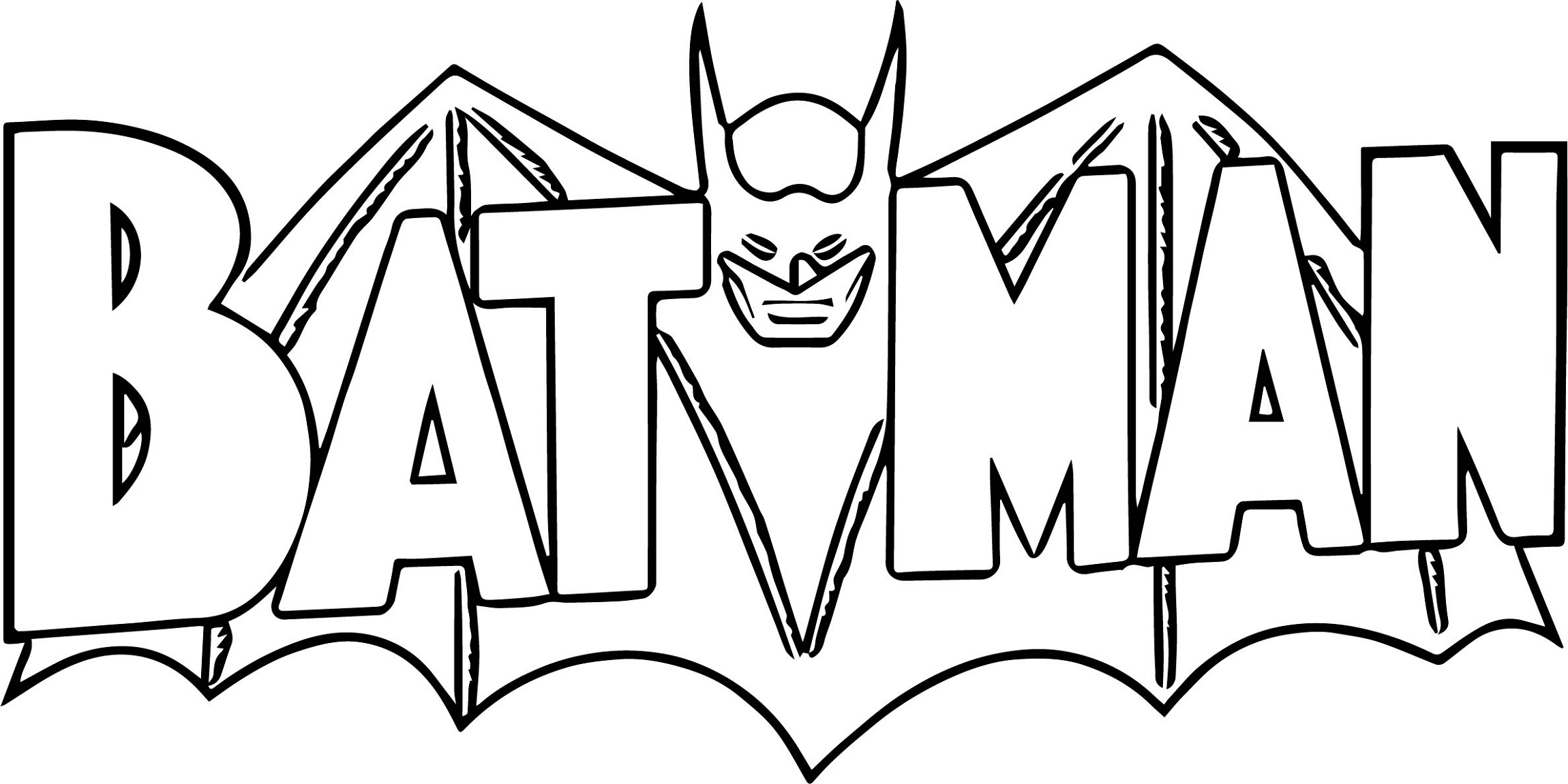 New Batman Logo Coloring Pages