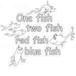 One Fish Two Fish Coloring Page Free
