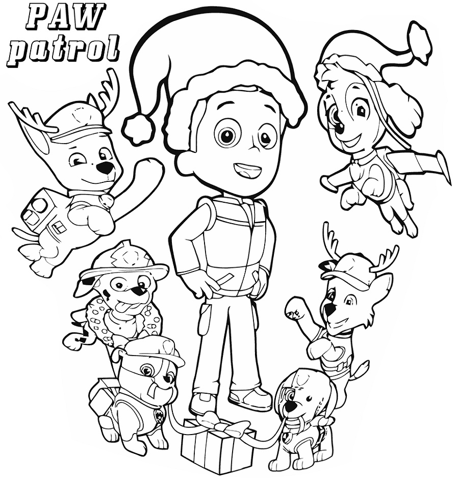 Paw Patrol Coloring Sheets LargePaw Patrol Coloring Sheets Large