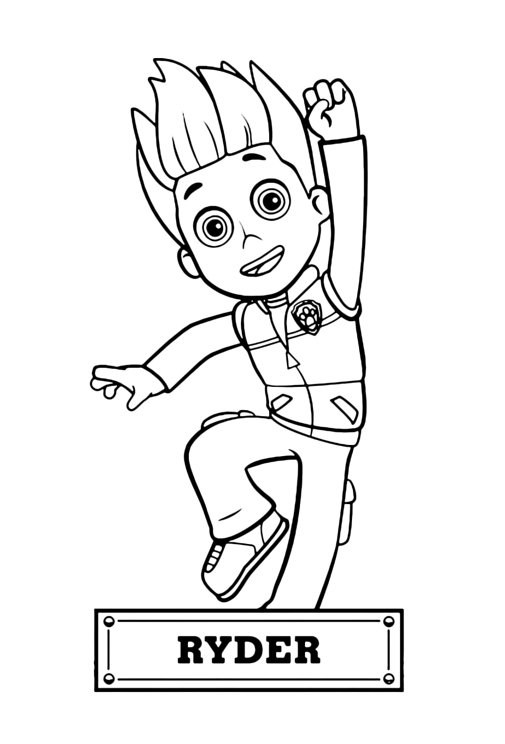 Paw Patrol Coloring Sheets Ryder