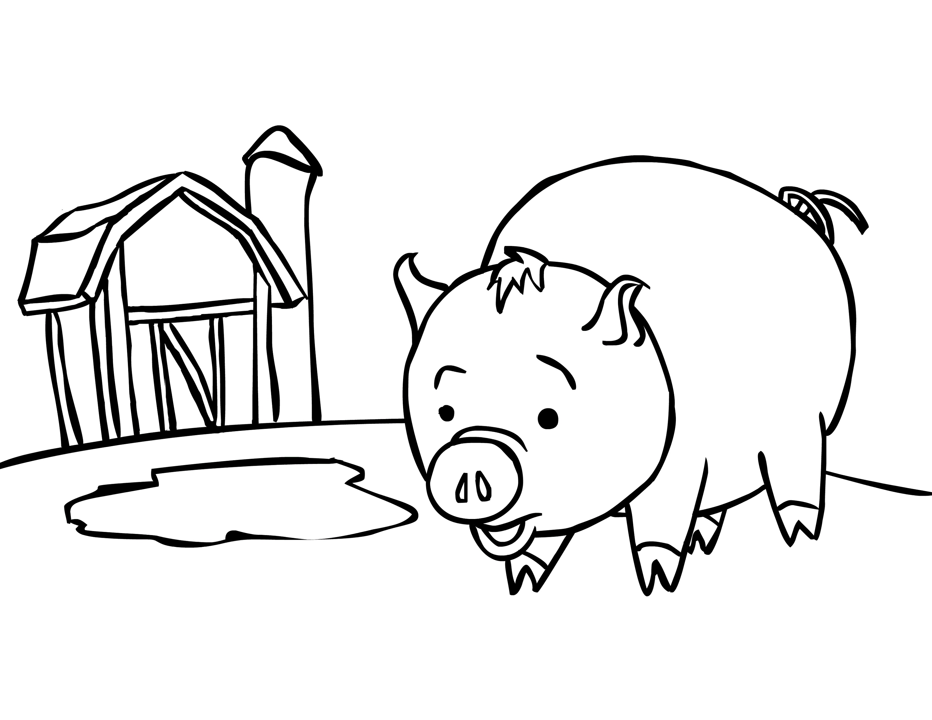 Pig Coloring Pages Baby