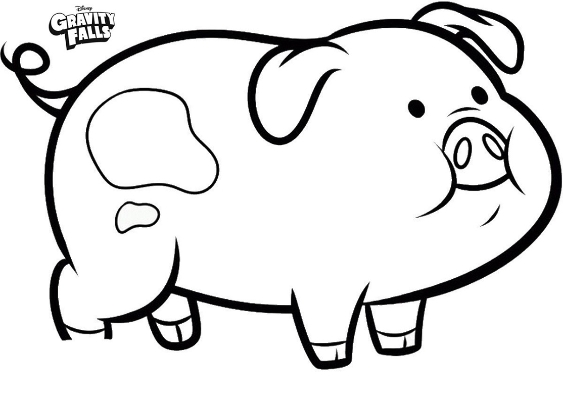 Pig Coloring Pages Waddles Gravity Falls