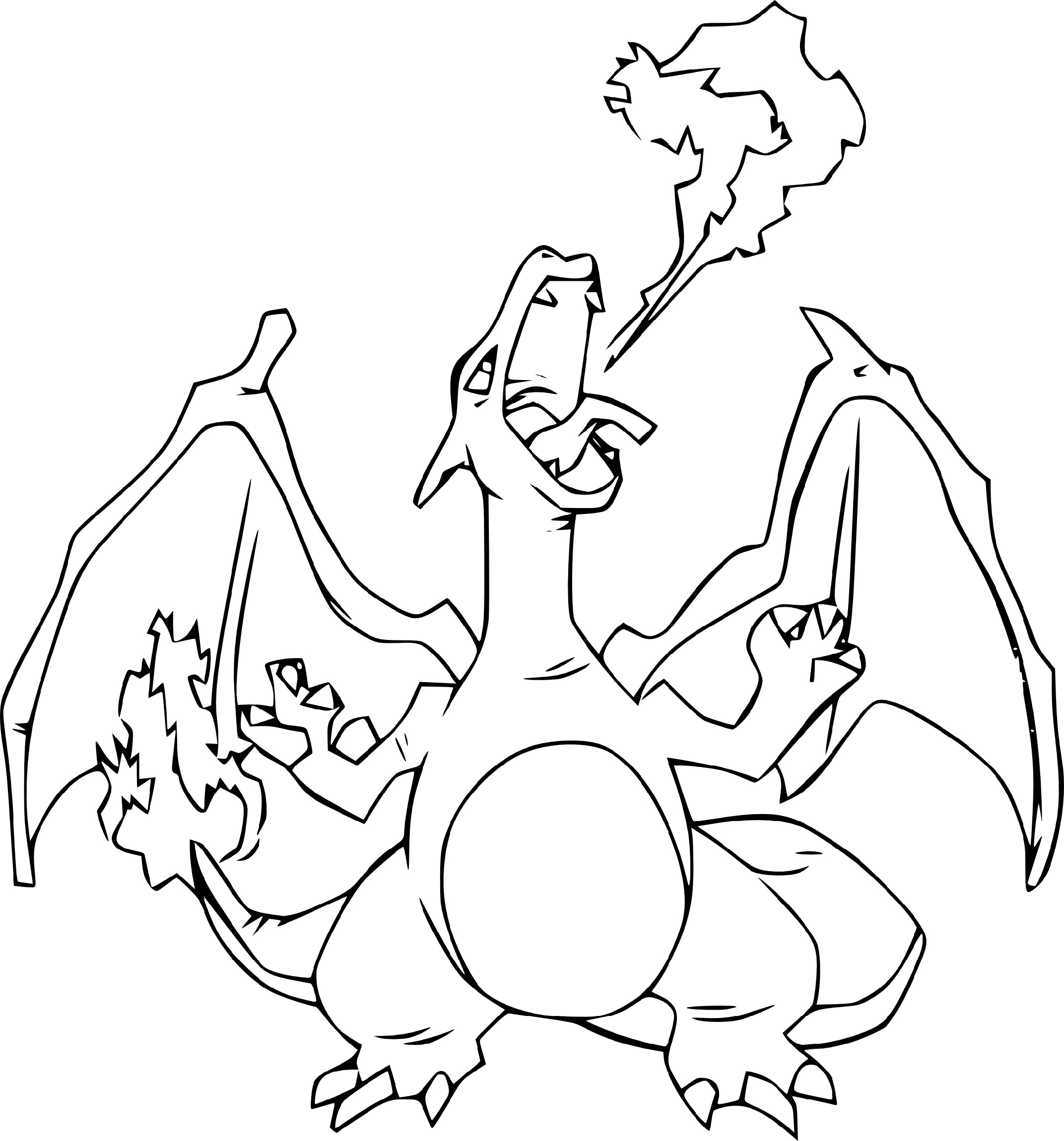 Pokemon Coloring Pages Charizard Ex