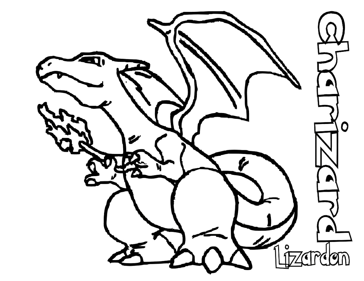 Pokemon Coloring Pages Charizard Lizardon