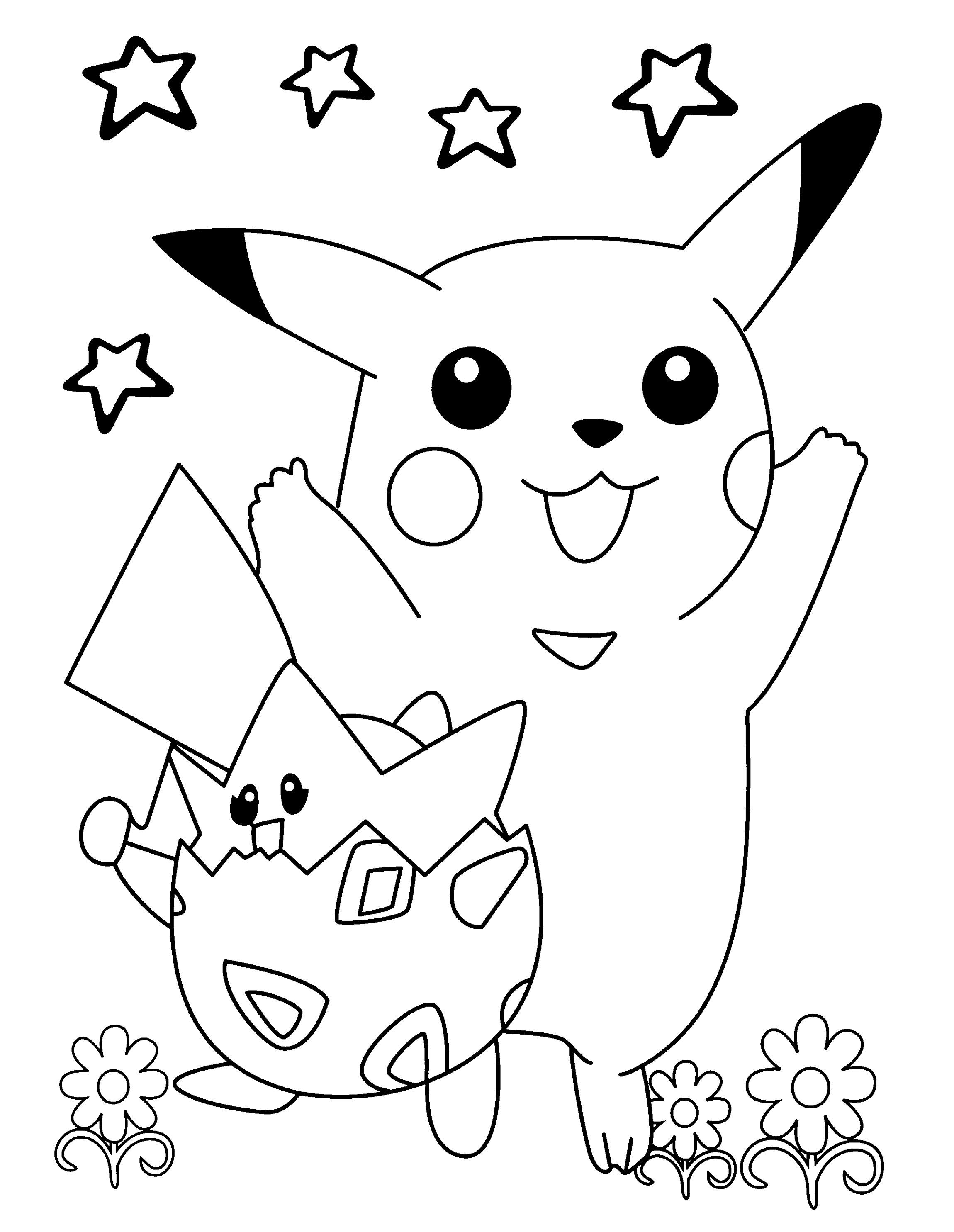 Pokemon Printable Coloring Pages Free