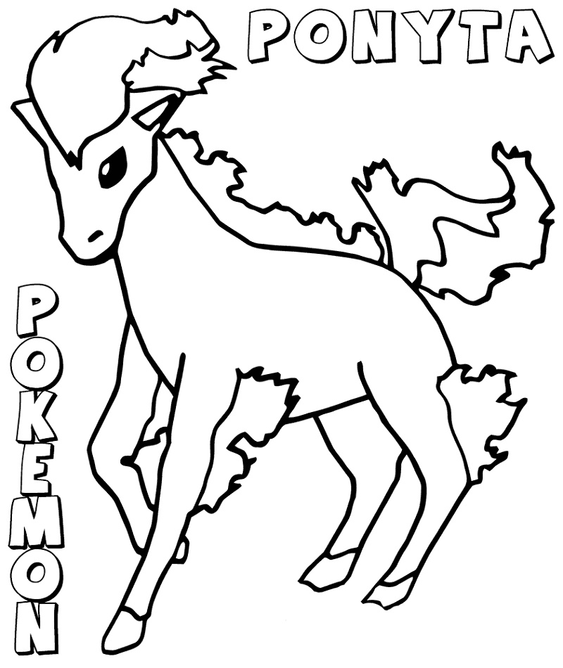 Pokemon Printable Coloring Pages Ponyta