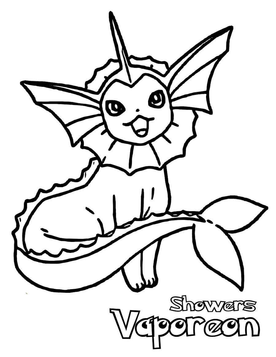 Pokemon Printable Coloring Pages Vaporeon