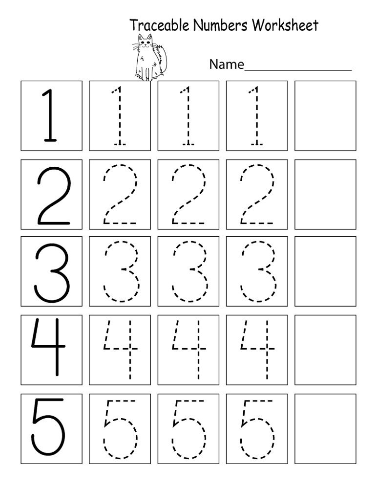 Preschool Math Worksheets Free Tracing Numbers