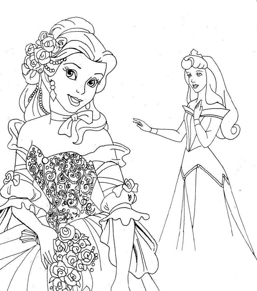 Princess Coloring Sheets Disney
