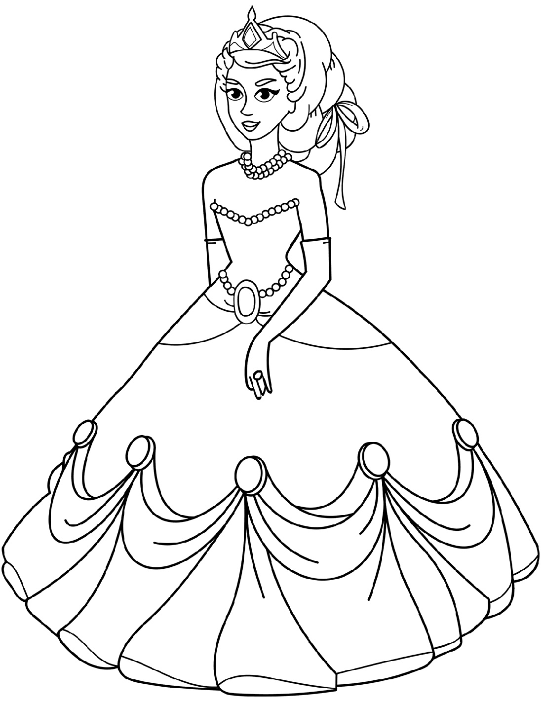 Princess Coloring Sheets Dress