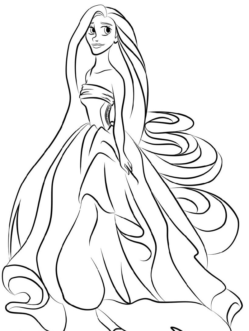 Princess Coloring Sheets Rapunzel