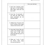 Printable Practice Math Problems 1st Grade