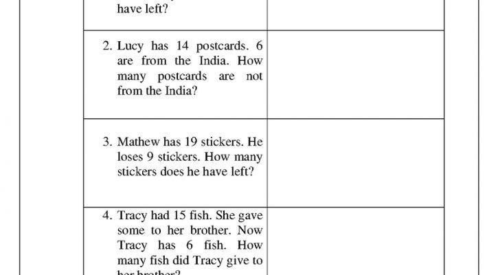 Printable Practice Math Problems 1st Grade