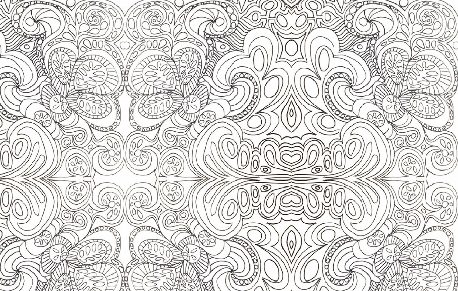 Psychedelic Coloring Pages Art