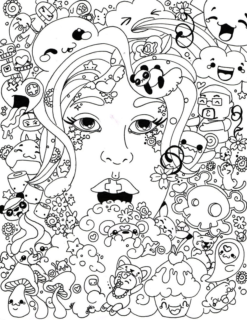 Psychedelic Coloring Pages Free