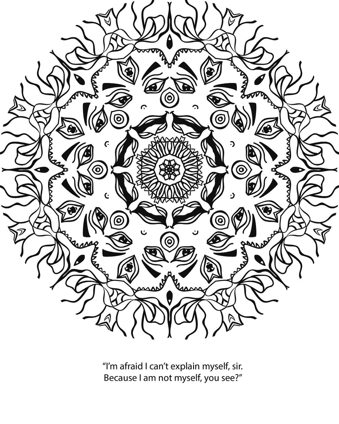 Psychedelic Coloring Pages Printable